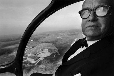 Buckminster Fuller Helicopter Portrait