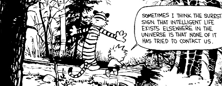 Calvin and Hobbes intelligent life contact us