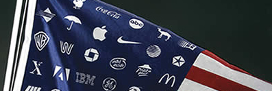 corporate logo flag