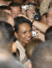 Condoleeza Rice gang bang press corp