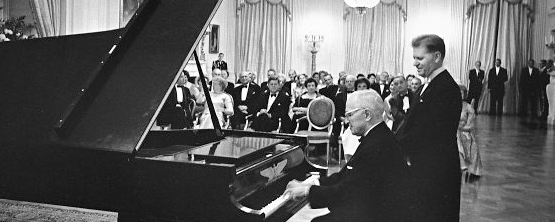 Harry Truman Plays Piano in the White House