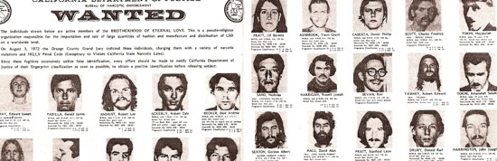 Hippie Mafia Wanted Poster