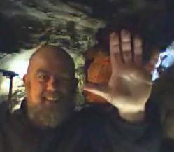 Maurizio Montalbini in the cave