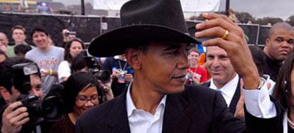 Obama Cowboy Texas