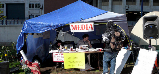 Occupy Boston Media Tent